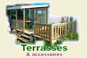 Terrasses et Accessoires pour mobil-home