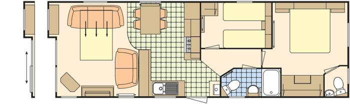 Atlas Debonair 36x12 - 2 Chambres