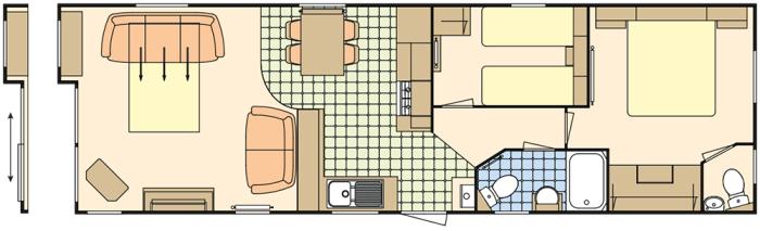 Atlas Debonair 38x12 - 2 Chambres