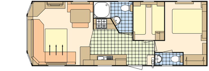 Atlas Everglade 32x12 - 2 Chambres