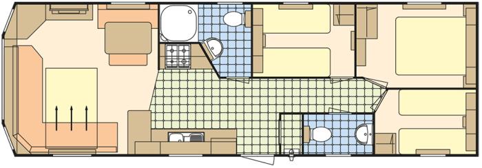 Atlas Everglade 36x12 - 3 Chambres