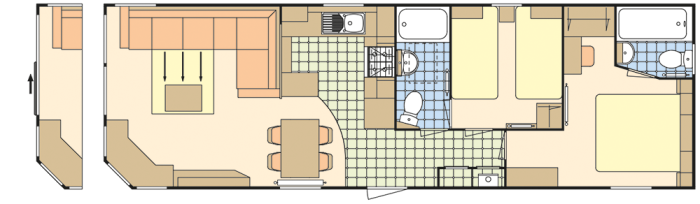 Atlas Heritage 38x12 - 2 Chambres