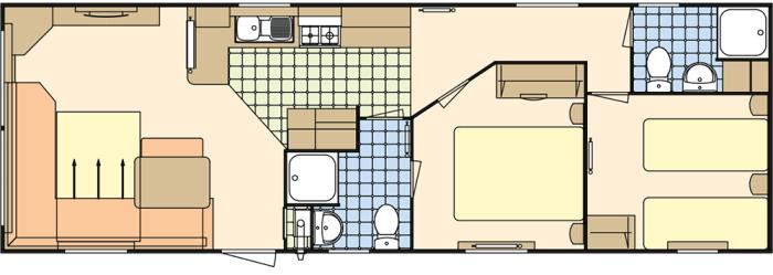 Atlas Moonstone 36x12 - 2 chambres