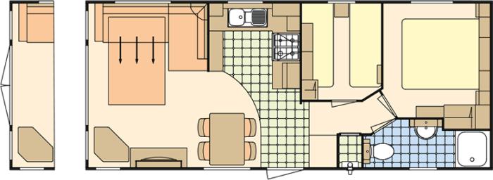 Atlas Ruby 28x12 - 2 Chambres
