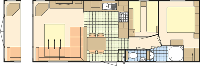 Atlas Ruby 32x12 - 2 Chambres