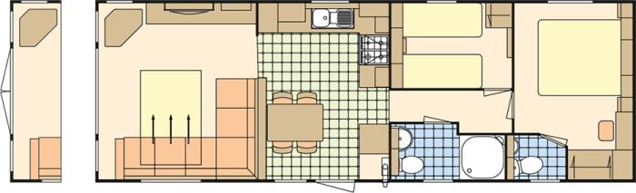 Atlas Ruby 35x12 - 2 Chambres
