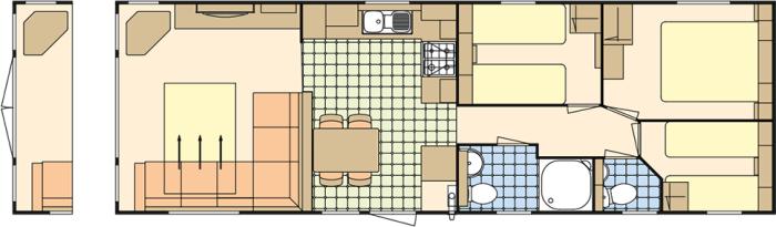 Atlas Ruby 37x12 - 3 Chambres