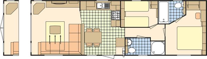 Atlas Ruby 38x12 - 2 Chambres