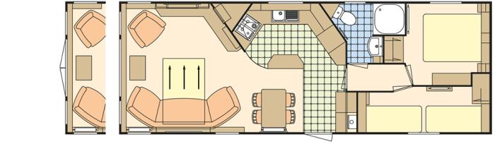 Atlas Status 35x12.6 - 2 Chambres