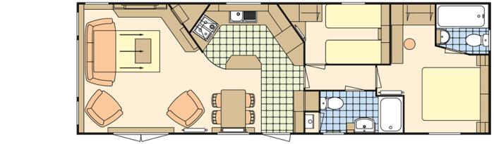 Atlas Status 38x12.6 Option Baie en Façade - 2 Chambres