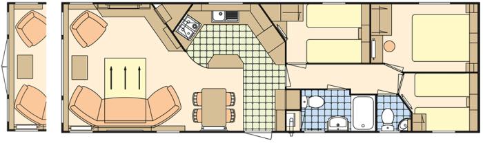 Atlas Status 38x12.6 - 3 Chambres