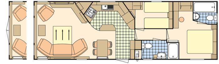 Atlas Status 38x12.6 - 2 Chambres