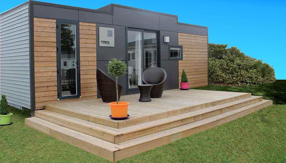 Terrasse Couverte Pour Mobil Home Du Lys
