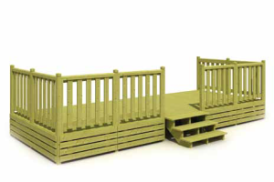 Terrasses Deckit pour mobil-home