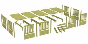 Exemple de vue éclatée d'une Terrasse Deckit