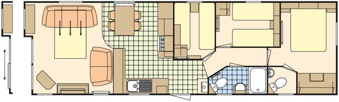 Atlas Debonair 38x12 - 3 Chambres