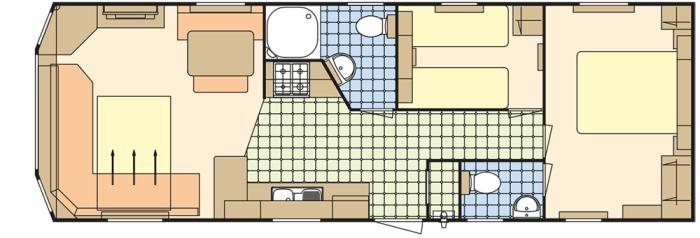 Atlas Everglade 35x12 - 2 Chambres