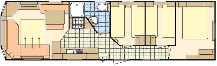 Atlas Florida 35x10 - 3 Chambres