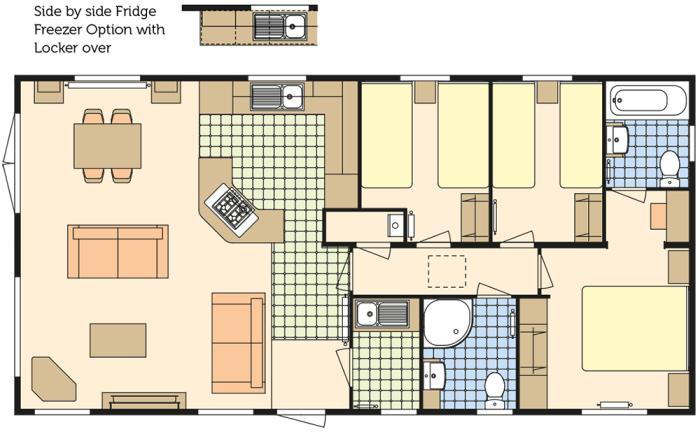 Atlas Lilac 40x20 - 3 Chambres