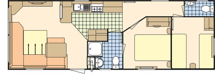 Atlas Moonstone 35x12 - 2 chambres