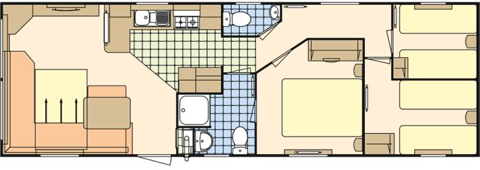 Atlas Moonstone 36x12 - 3 chambres