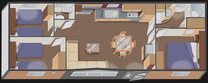 nautilhome nautil 10.20 XL - 3 chambres