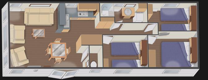 Nautilhome mhp loisirs - Mobil home 3 chambres 2 salles de bain ...