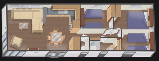 mobilhome nautil 12.7 - 3 chambres