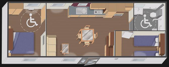 nautilhome PMR 11.10 - 2 chambres
